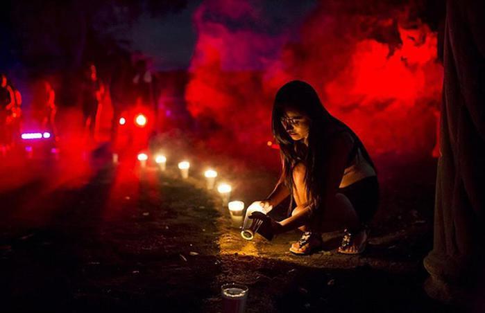 Мексиканские сатанисты   леденящие кровь фотографии Черной мессы в Веракрус