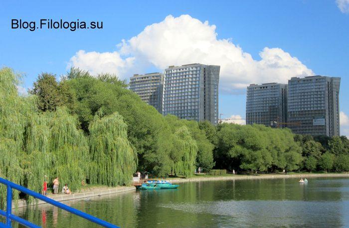 Пруд в парке Дружба на севере Москвы  (700x457, 60Kb)