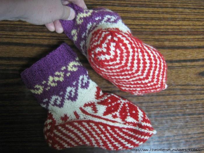 Схема детских носков: