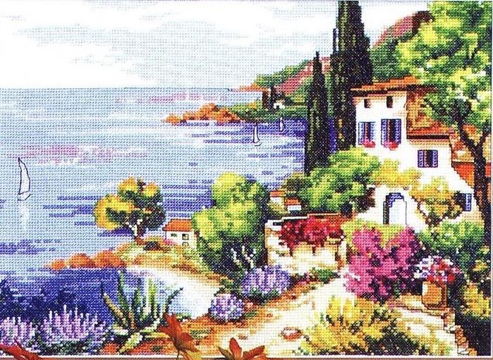 Схемы для вышивки побережье