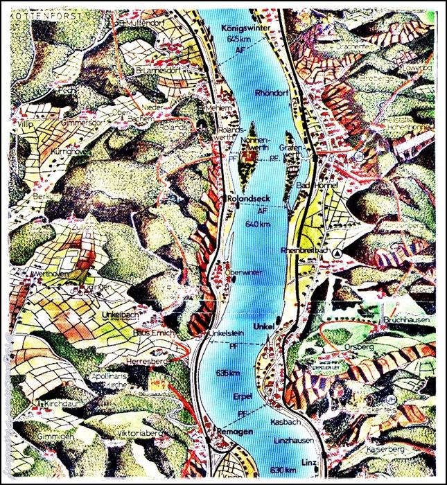 План прогулки по Рейну