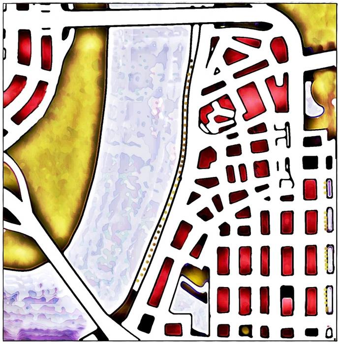 Дюссельдорф, пдан исторического центра города
