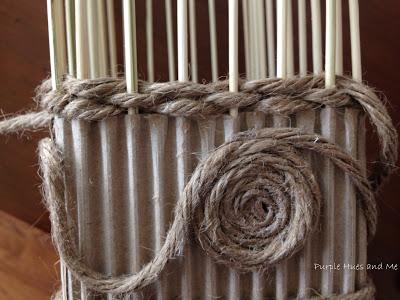 Декоративная ваза из картона, джута и шашлычных палочек (12) (400x300, 118Kb)
