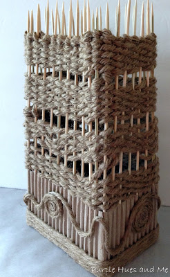 Декоративная ваза из картона, джута и шашлычных палочек (14) (246x400, 110Kb)
