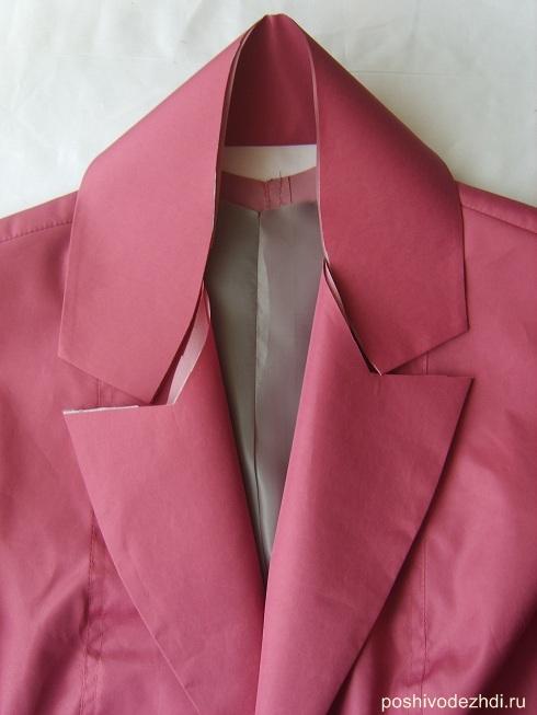 Как сшить на пиджак воротник 750