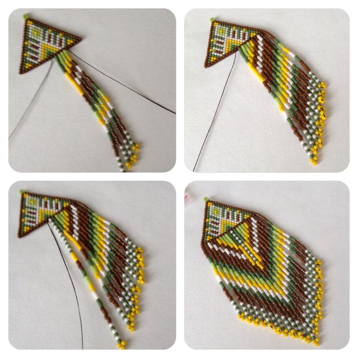 Серьги кирпичным плетением мастер класс