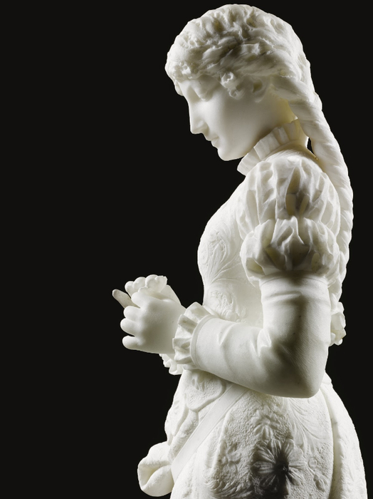 Ferdinando Vichi Standing girl holding a flower (2) (524x700, 175Kb)