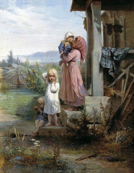 Что умела девочка 10 лет (без помощи взрослых), живущая в селе век назад (467x604, 82Kb)