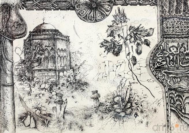 Мавзолей Диляры - Бикеч. 1988 Художник Рамз Нетовкин 3566 (655x459, 434Kb)