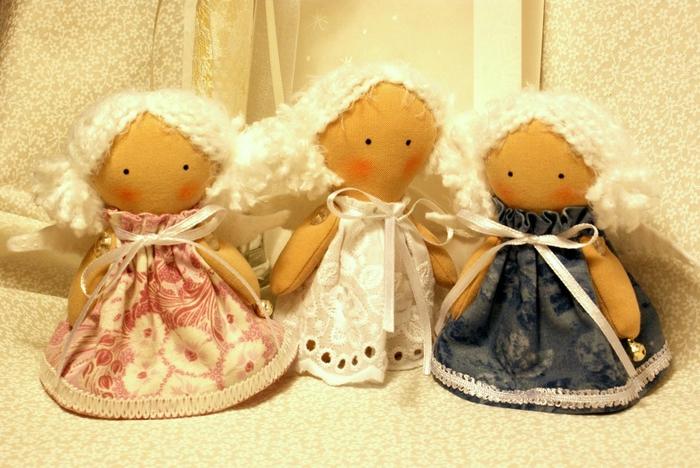 Рождественские ангелы сшитые своими руками