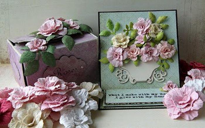 Цветы из акварельной бумаги своими руками мастер класс
