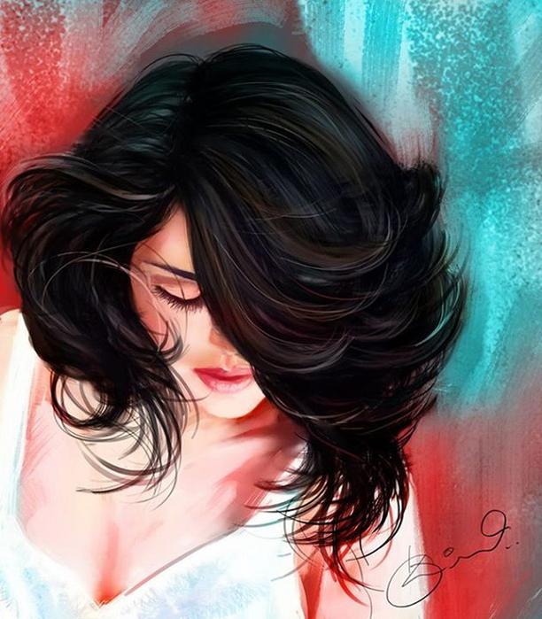 1_digital_painting__indian_woman_kiran (612x700, 422Kb)