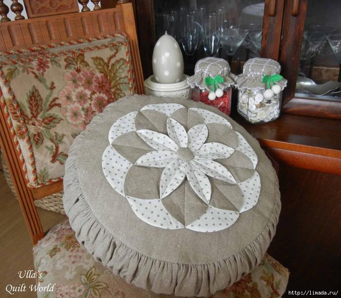 01 DSCN9905 Flower pillow case - quilting (700x612, 352Kb)