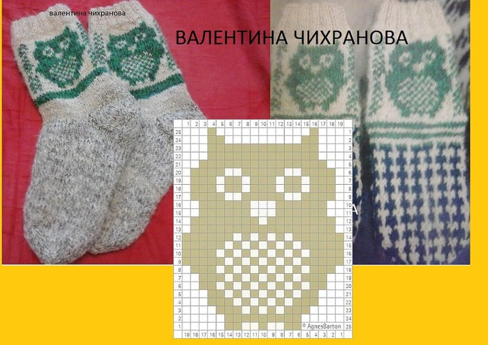 Вязание на спицах носков.варежек