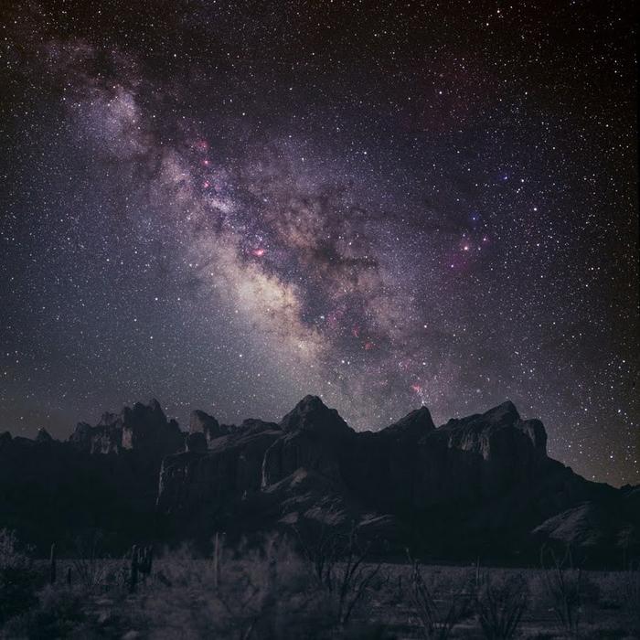 Млечный путь в ночном небе (700x700, 406Kb)