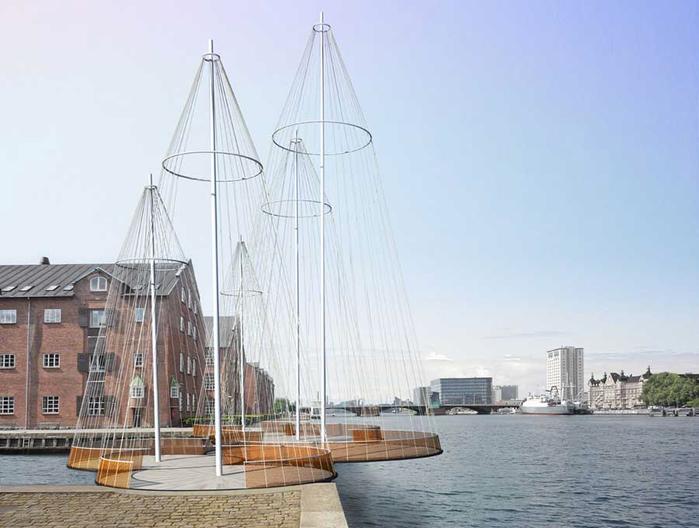 пешеходный мост в Копенгагене 5 (700x528, 238Kb)