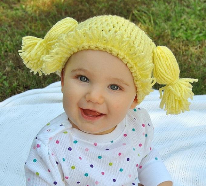 вязаная шапочка для девочки Cabbage Patch Kids 2 (680x612, 359Kb)