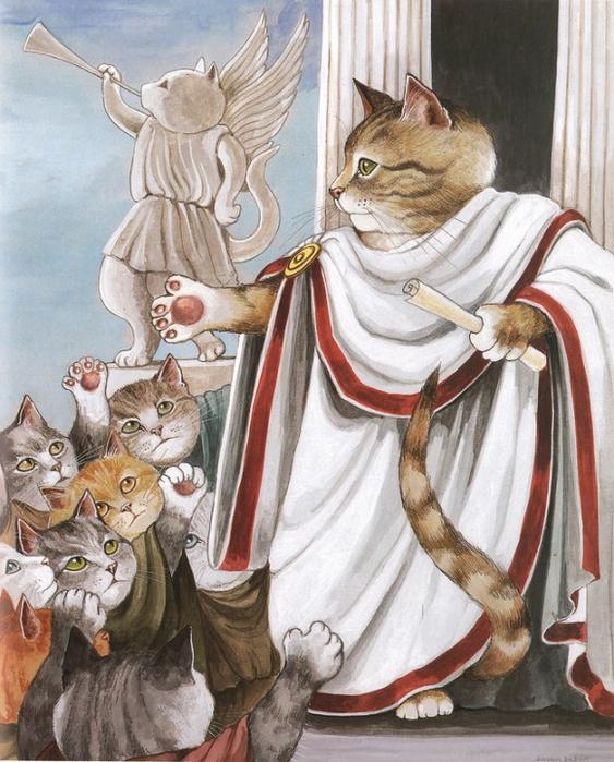 1. Марк Антоний обращается к толпе. «Юлий Цезарь» (563x700, 432Kb)