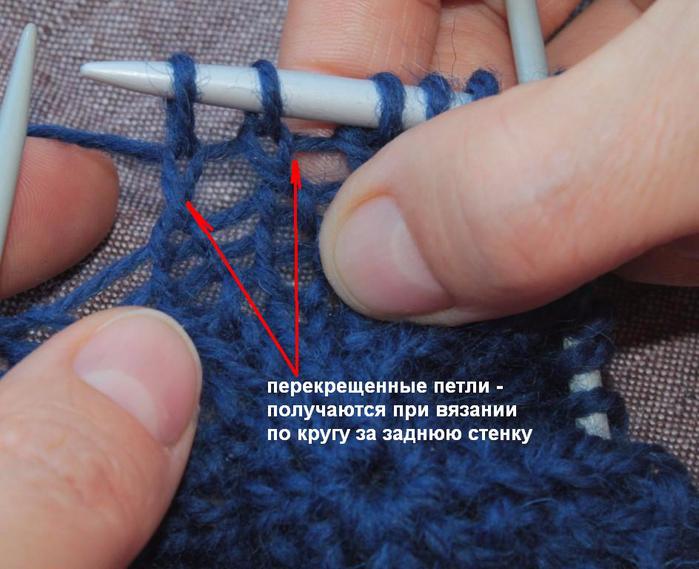 Начало вязания спицами от центра