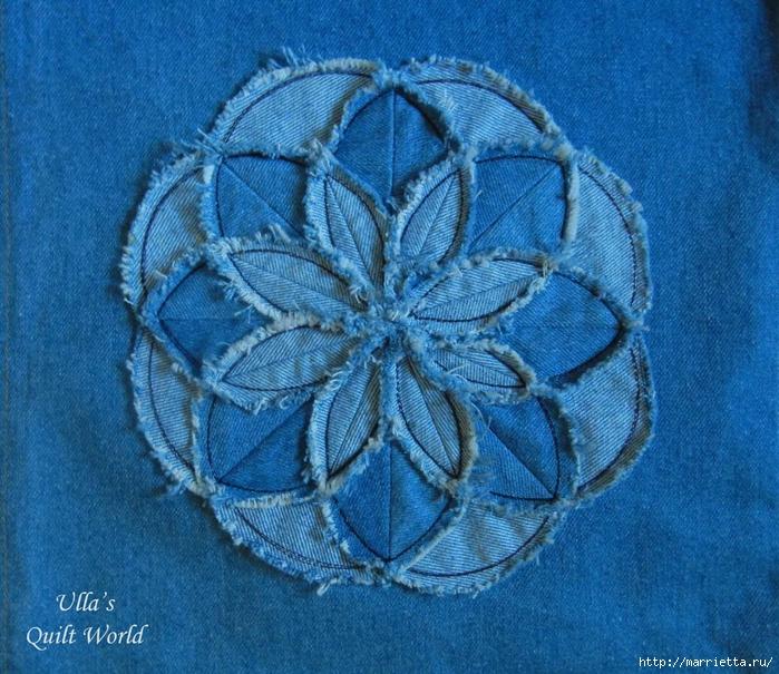 Лоскутное шитье. Подушка с цветком (2) (700x605, 409Kb)