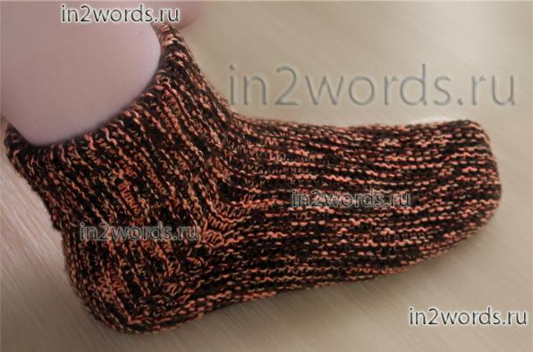 вязать детские носки с крючком