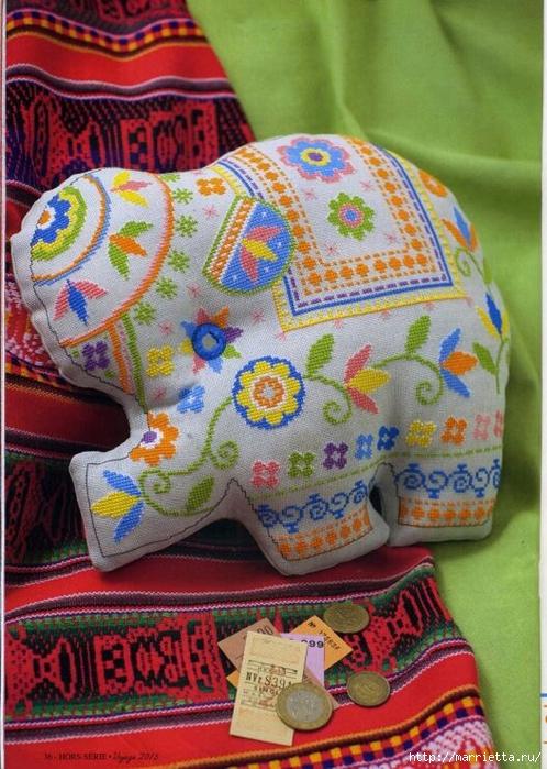 Вышивка крестом. Индийский слон (1) (498x700, 333Kb)