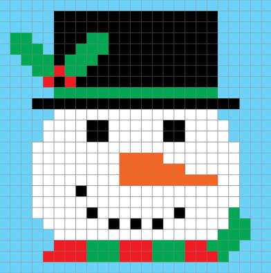 SnowmanPixel (392x395, 148Kb)