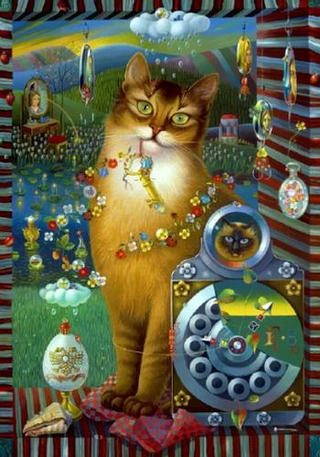 0- тюльпанов - ее величество кошка (350x500, 340Kb)