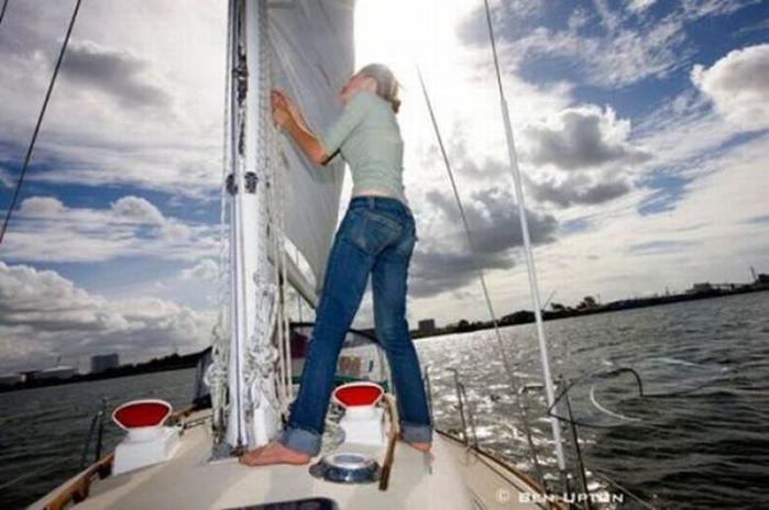 Вокруг света в 16 лет. Настоящая морская путешественница (44 фото)