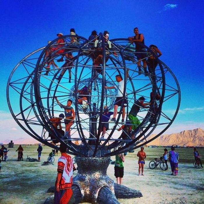 Молодежный фестиваль Burning Man в штате Невада