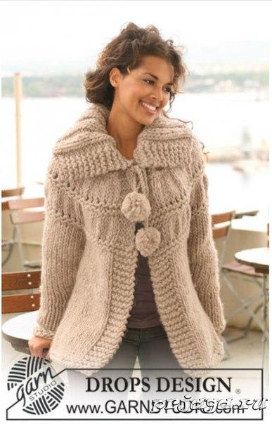 пальто с помпонами (387x604, 157Kb)