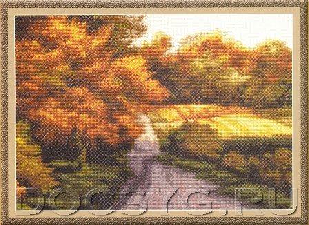 схема вышивки Осенний этюд
