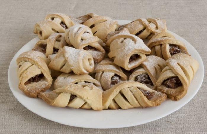 печенье с яблоками и орехами (700x453, 283Kb)
