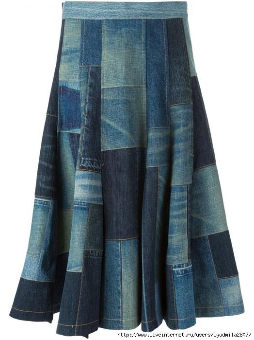 Юбка из старой юбки