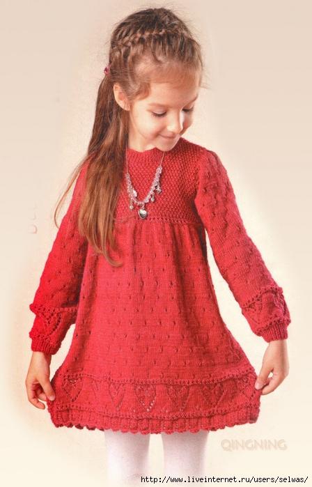 Платье для девочки вязаное спицами/4683827_6597926286214371250 (448x700, 236Kb)