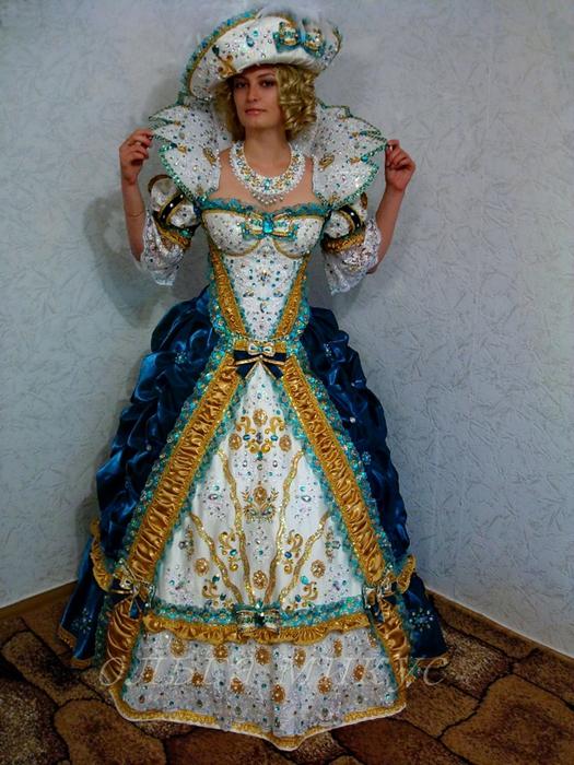 Платье для королевы для девочки своими руками 90