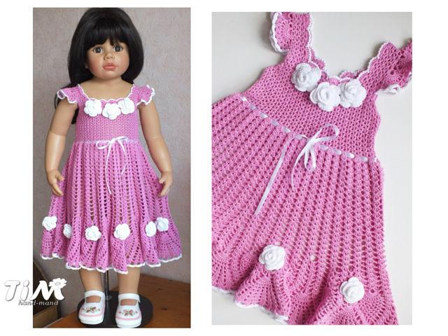 【钩针】儿童裙服