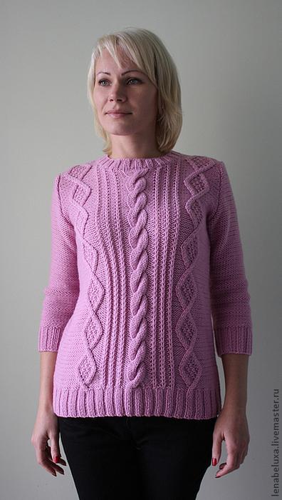77e5471981-odezhda-rozovyj-pulover-s-rukavom-3-4-n0971 (396x700, 322Kb)