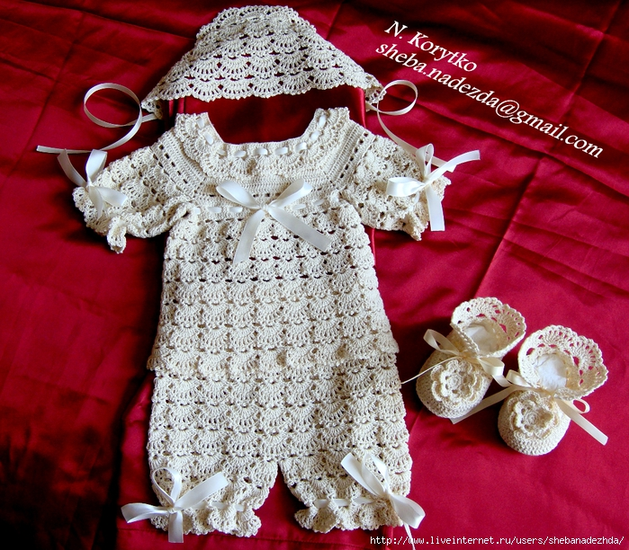 用棉线编织婴儿服饰 - maomao - 我随心动