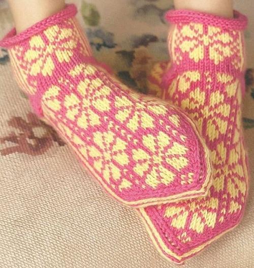 <вязание носков с мыска