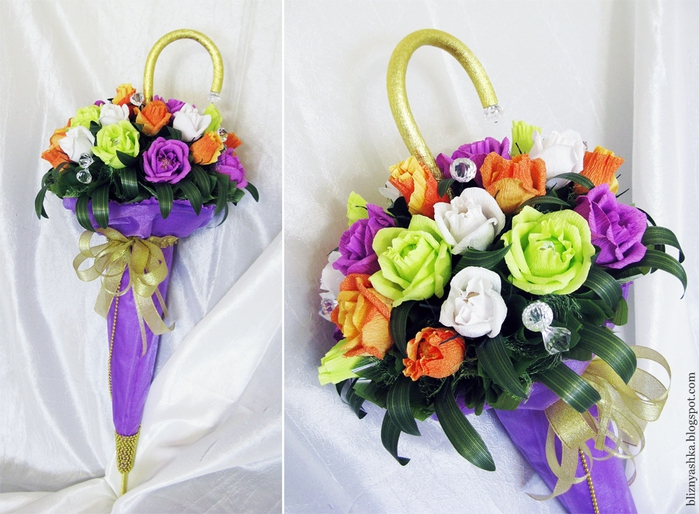 Букетики с цветами своими руками
