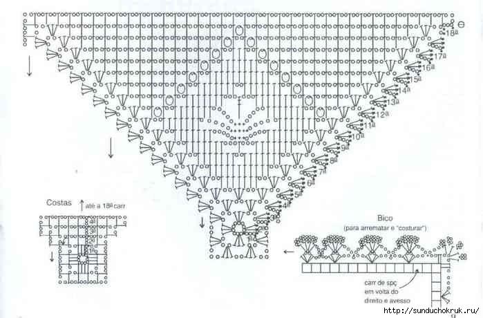 Схемы вязания крючком покрывала для подушек 4