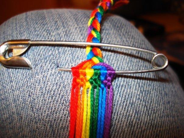 彩虹绳编手链 制作过程