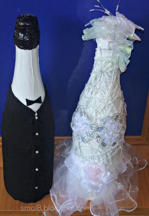 Бутылки жениха и невесты своими руками