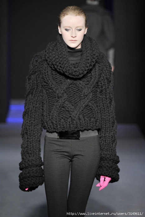 жилеты из толстой пряжи вязание