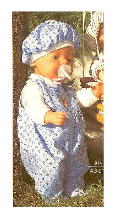 Одежда для куклы бэби борн 43см. born вязание для куклы беби борн
