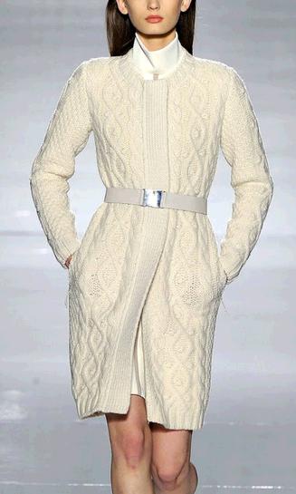 пальто вязаное женское фото