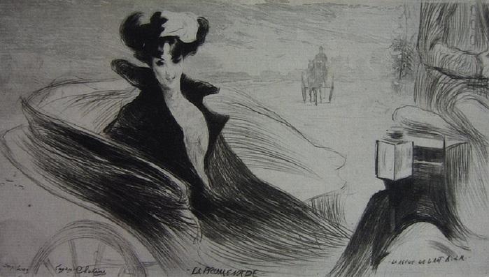 Edgar Chahine, La Promenade 1900 (700x397, 104Kb)