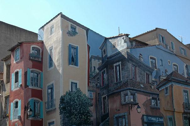 Агде, Франция. Не поймешь где нарисованное, а где настоящее (605x402, 59Kb)