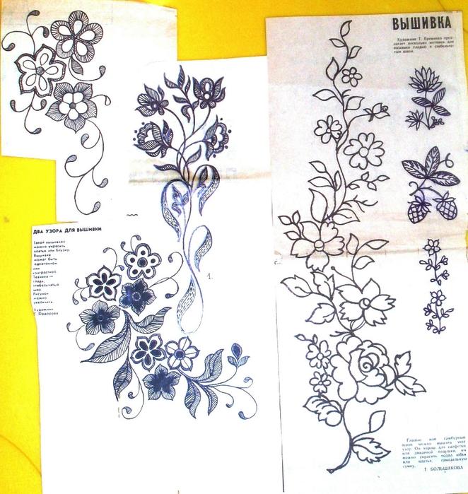 Вышивка гладью цветов фото с описанием схем 77